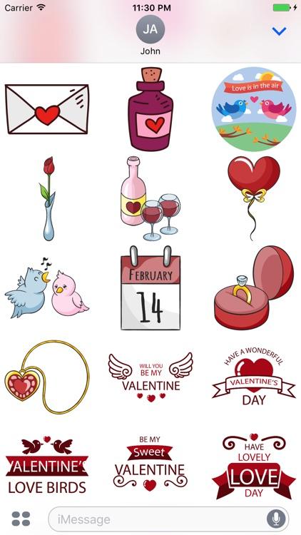 Happy Valentine Day - Stickers screenshot-4