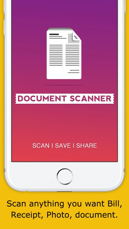 Document Scanner for Pdf & Receipt scan