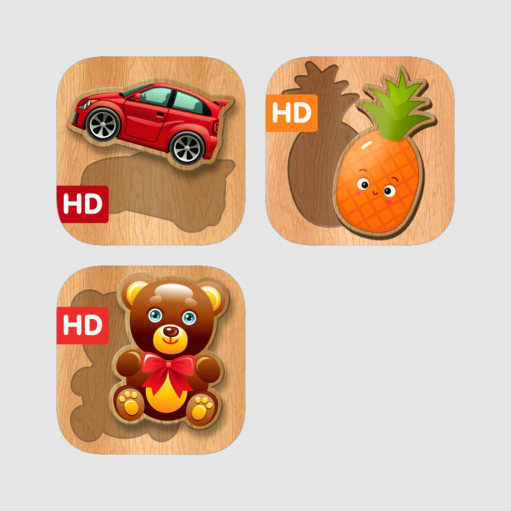 Easy sorting shapes - toddler games for little kids: small baby girls and free boys