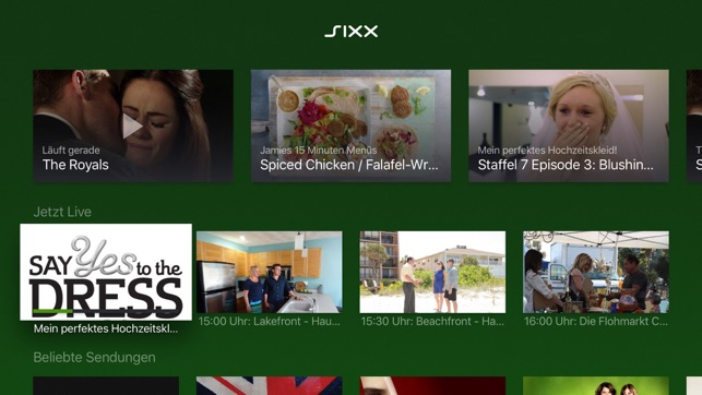 Sixx Live Tv Und Mediathek Im App Store