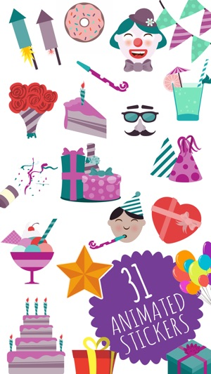 Animated Birthday Stickers And Emoji 17