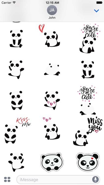 Cute Panda Love Sticker Pack screenshot-3