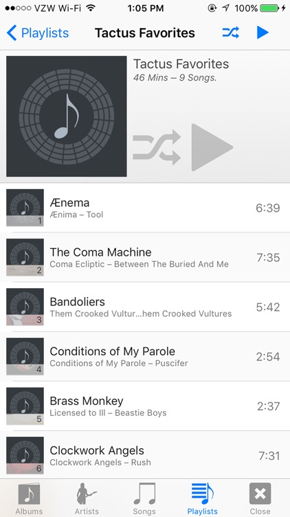 Tactus Music Player screenshot-4