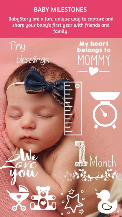 BabyStory - baby & pregnancy milestone stickers