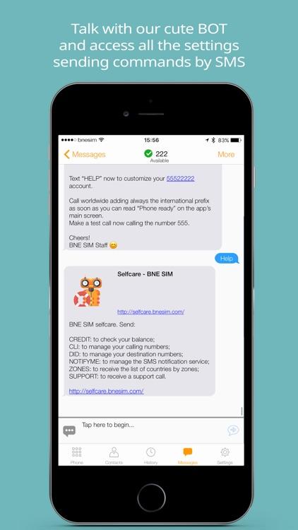 BNESIM International Voip calls, Free Roaming, DID screenshot-3