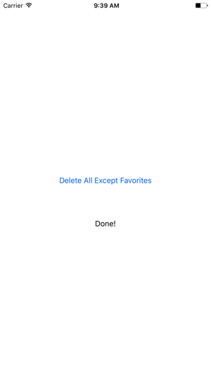 Delete Photos Except Favorites Screenshot