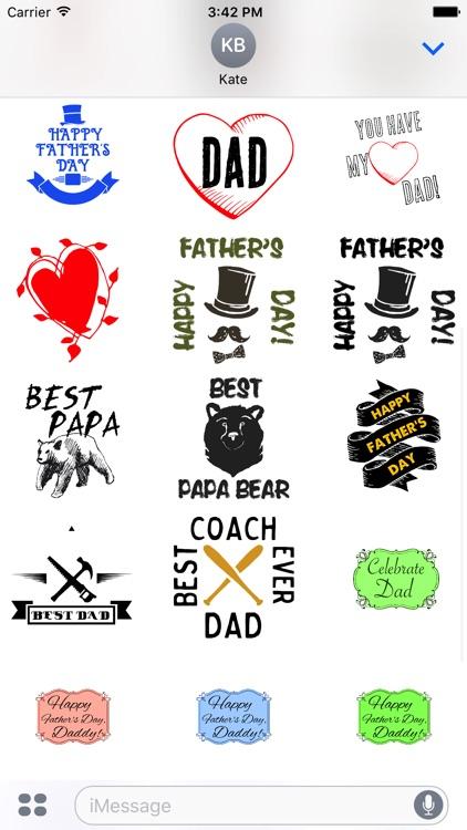 Best Dad Ever Stickers screenshot-3