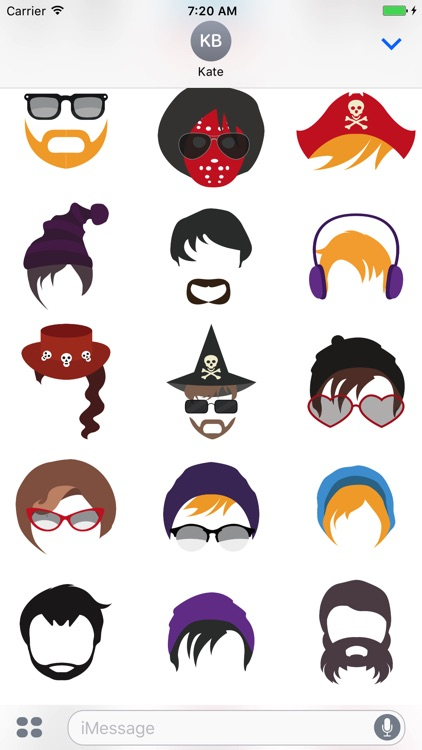 Hairstyle Stickers screenshot-4