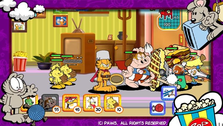 Garfields Verteidigung: Essens-Eindringlinge screenshot-3