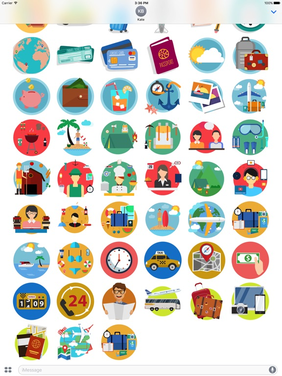 Travel - Stickers Pack for iMessage-ipad-2