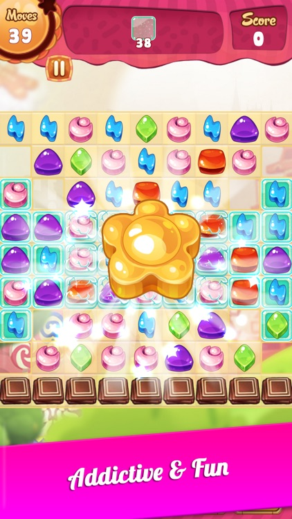 Sweet Candy - New Match 3 Puzzle Game with Friends screenshot-4