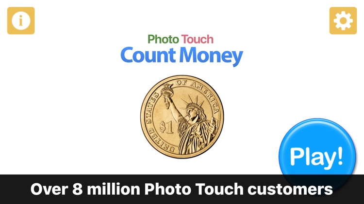 Count Money and Coins - Photo Touch Game