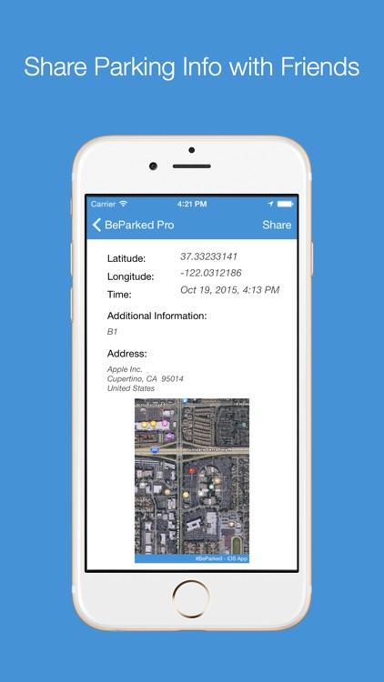 BeParked Pro - Car Parking Spot Tracker screenshot-3