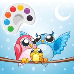 Kid Için Sevimli Baykuş Boyama çizim Sayfaları App Storeda