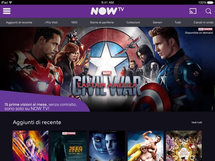 NOW TV per iPad screenshot-3