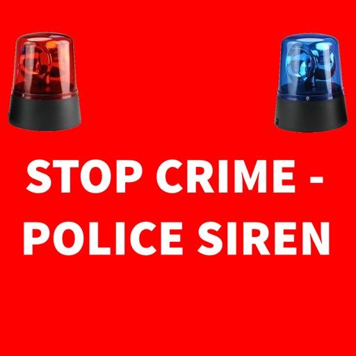 Stop crime-police siren