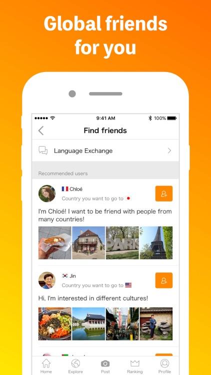 Airtripp - social network to meet global friends screenshot-0