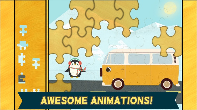 Car Games for Kids: Fun Cartoon Jigsaw Puzzles HD screenshot-3