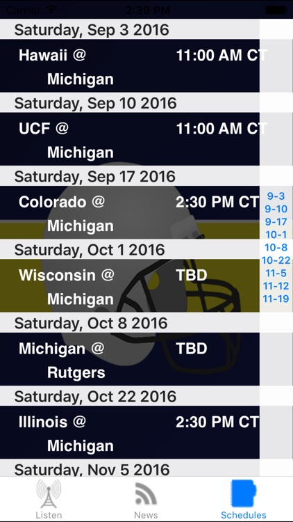 Michigan Football - Radio, Schedule & News screenshot-3