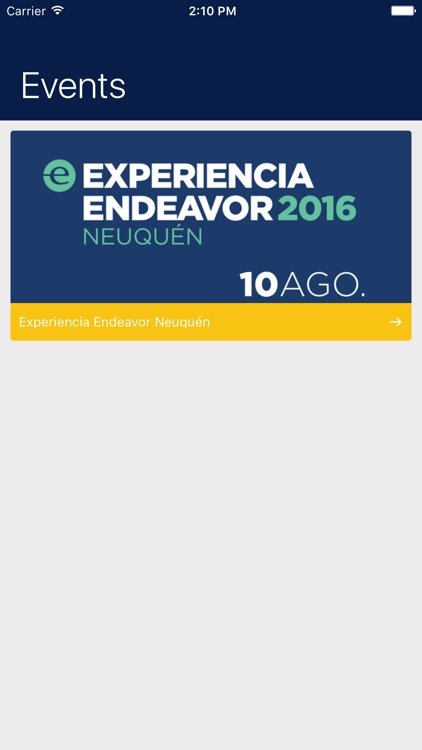 Experiencia Endeavor