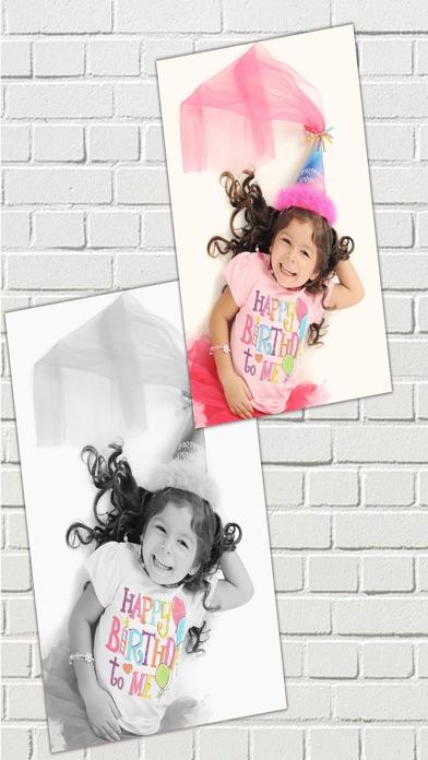 Efectos de color – blanco y negro foto editorCaptura de pantalla de3