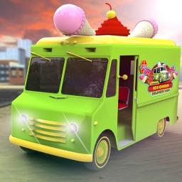 Summer Ice Cream Delivery Van