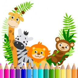 Funny Animal Coloring Paint Game For Kids