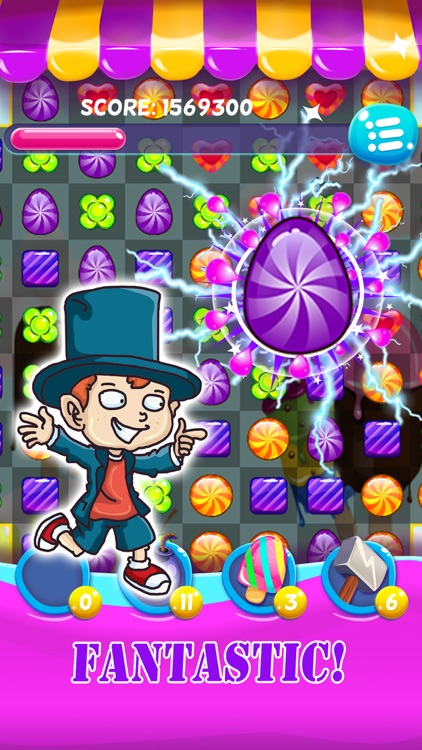 Candy gems with match 3 puzzle game