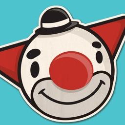Clown Face Sticker Pack