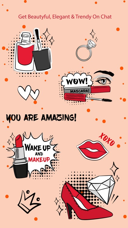 Beauty & Makeup Stickers screenshot-3