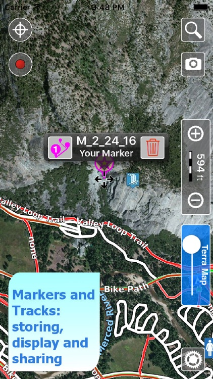 Trails of Yosemite NP - GPS Topo Maps for Hiking screenshot-3