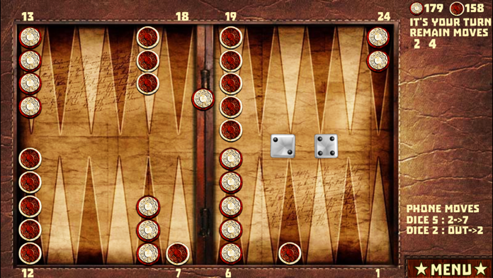 Backgammon with 16 Games Screenshot