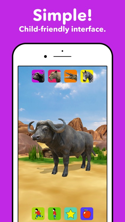 Zebra Safari Animals - Kids Game for 1-8 years old screenshot-3