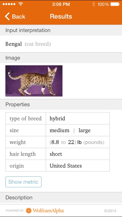 Wolfram Cat Breeds Reference App