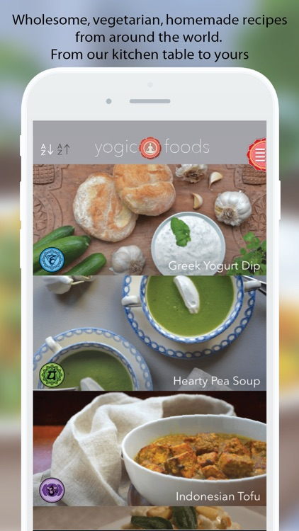 Yogicfoods -  Global vegan, vegetarian recipes screenshot-0