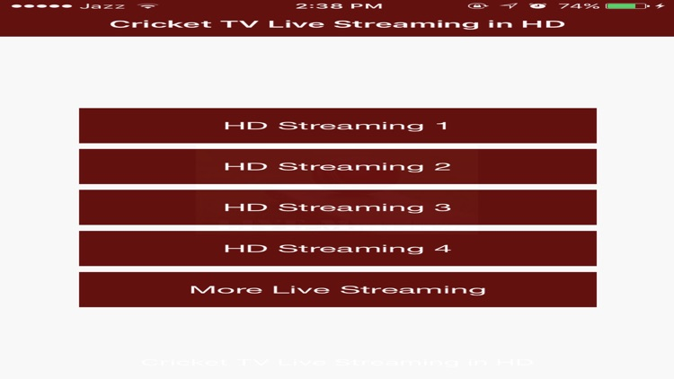 Cricket TV Live Streaming Matches screenshot-1
