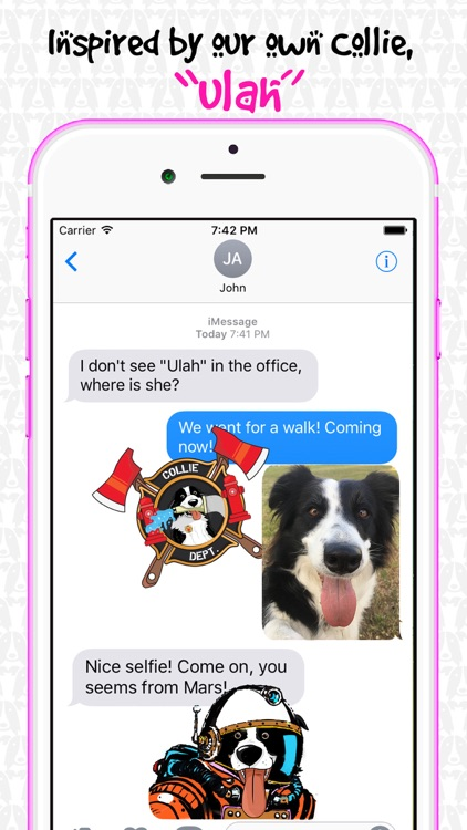 CollieMoji - Border Collie Emojis & Dog Stickers screenshot-4