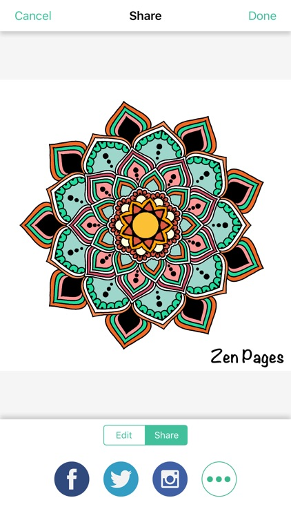 Zen Pages - Adult Coloring Book