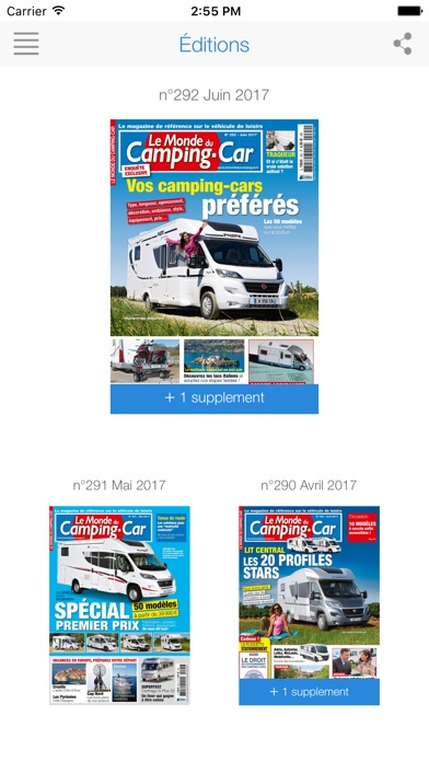 Le Monde du Camping-Car Screenshot on iOS