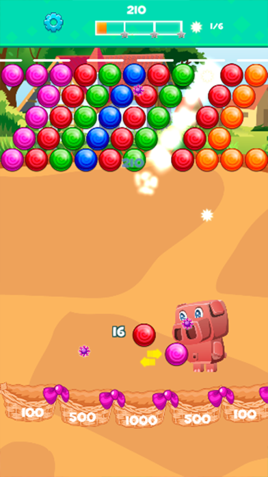 Pinky Pig Bubble Shooter screenshot two