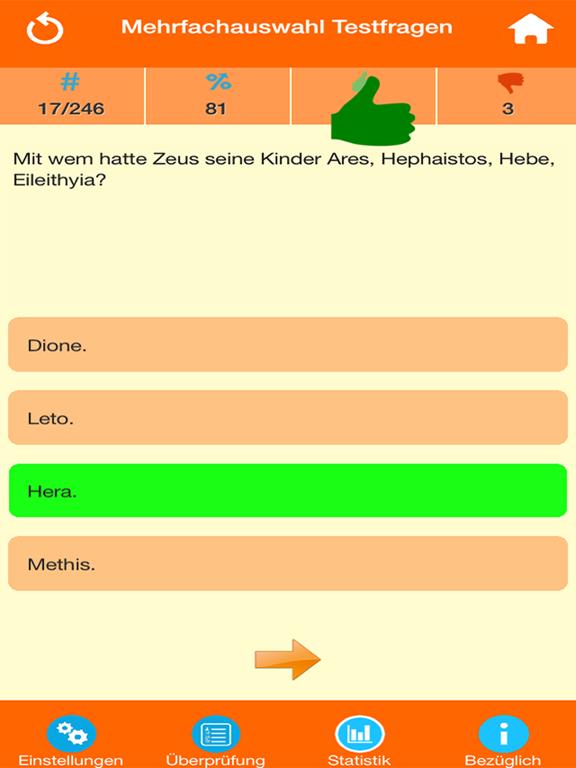 Die Griechische Mythologie Quiz screenshot 7