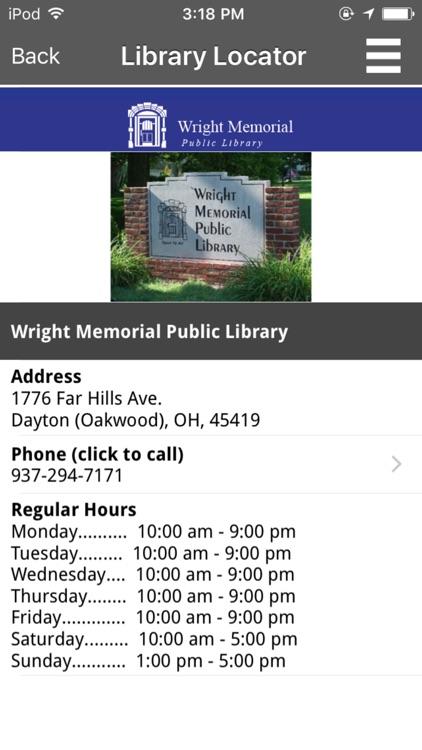 Wright Memorial Public Library screenshot-4
