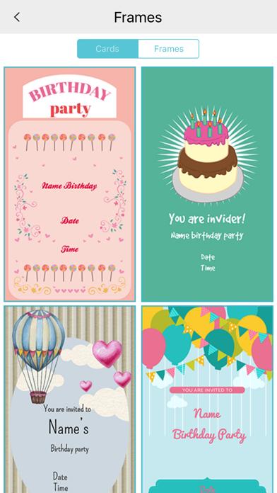 Custom Birthday Invitation Card maker screenshot two