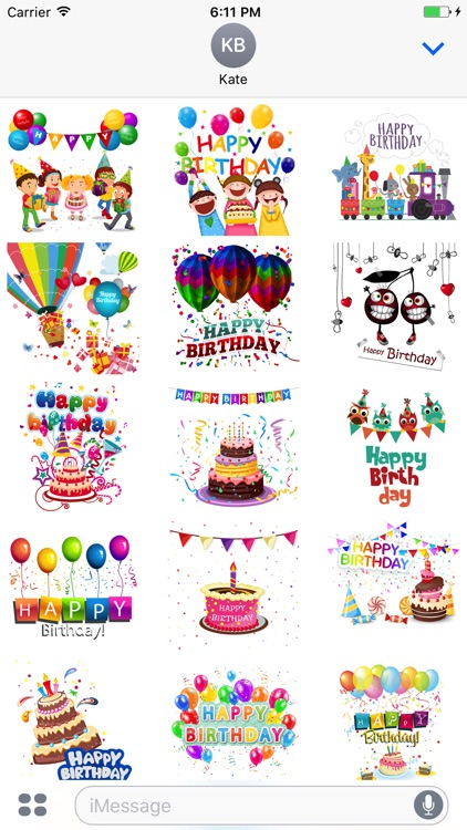 Happy Birthday Emoji and Stickers screenshot-1