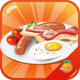 Cooking Eggs With Bacon to make breakfast