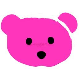 Pink Bear Sticker Pack