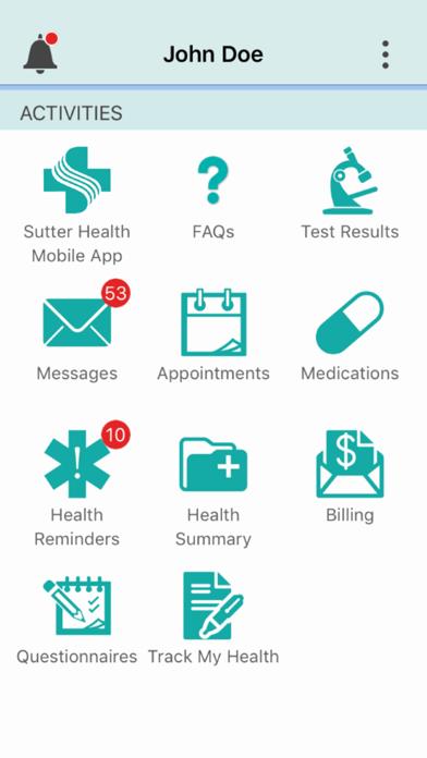 Sutter Health My Health Online iOS Application Version 8 7