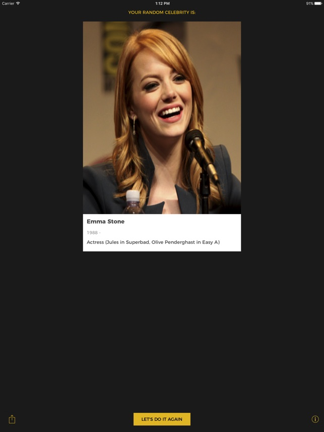random celebrity generator в app store