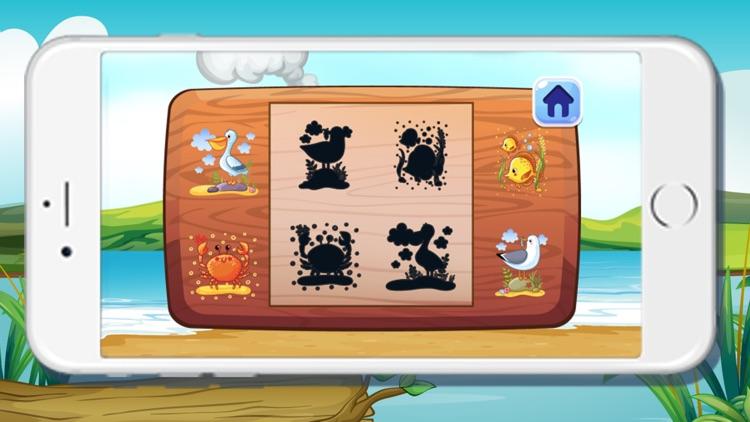 Sea Animals Shadow Puzzles Games for kids by Tripisut Mingman