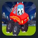 Little Red Car Monster Truck